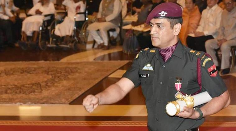 ms dhoni indian army