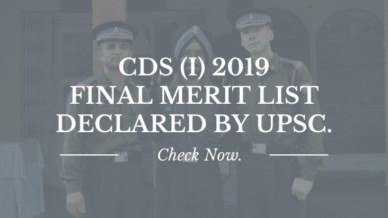 cds 1 2019 merit list