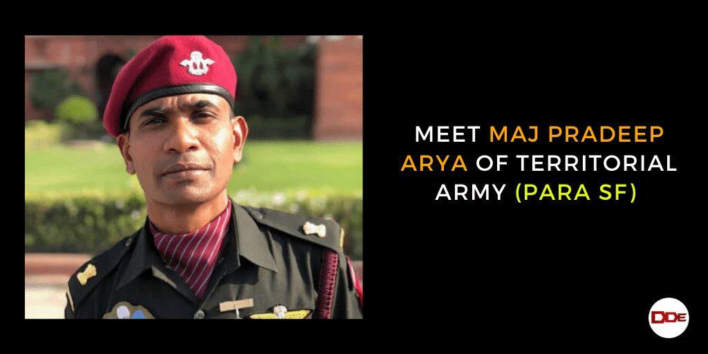 pradeep arya territorial army sf
