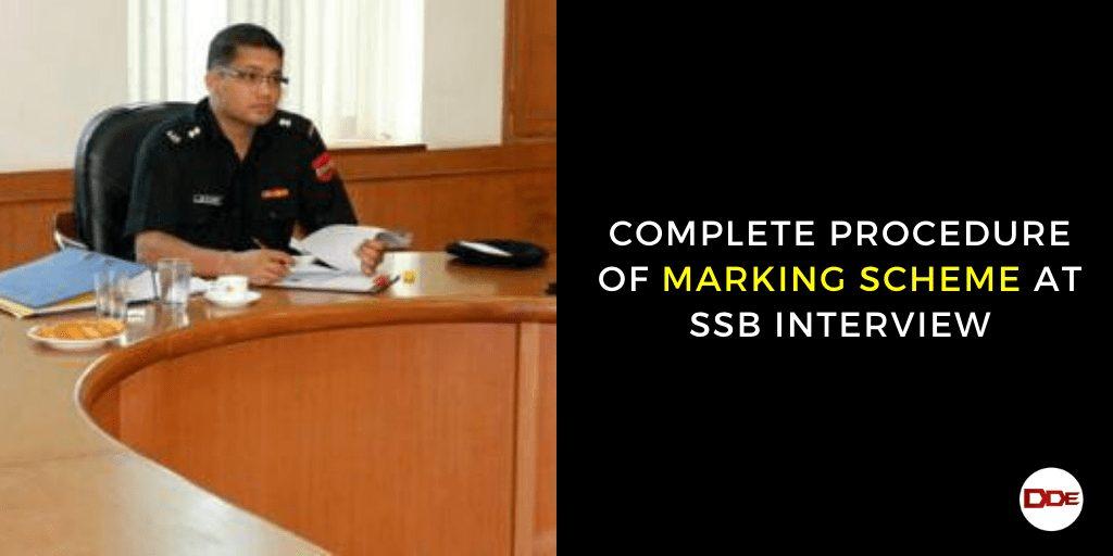 marking scheme ssb interview