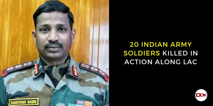 20 army soldiers killed