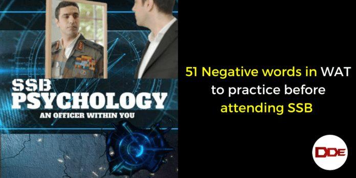 Negative words in WAT SSB