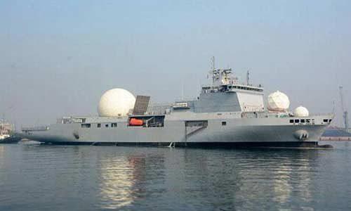 ins dhruv missile tracking ship