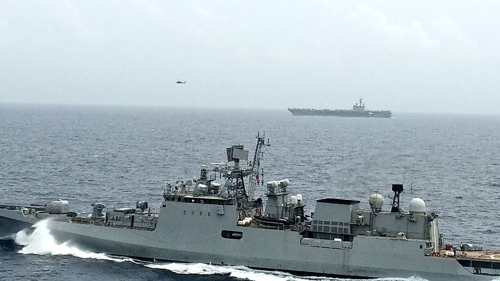 Indian Navy exercise with US